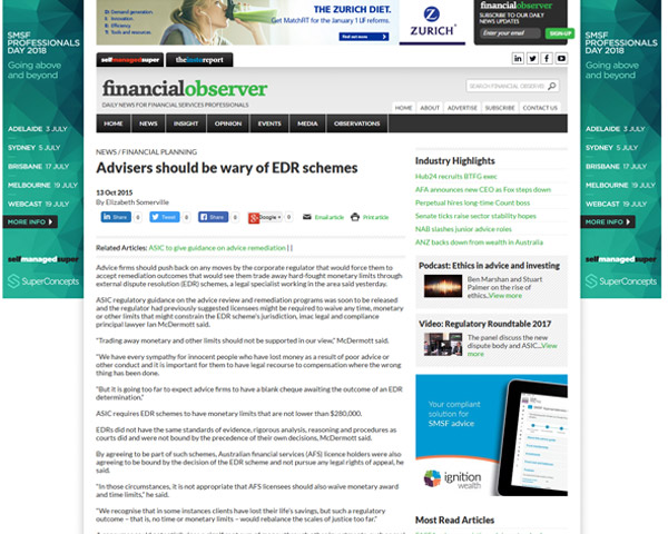 Financial Observer Article